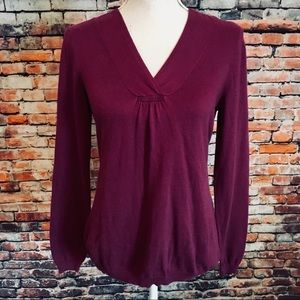 Ann Taylor Loft Cotton Blend Purple Knit Blouse